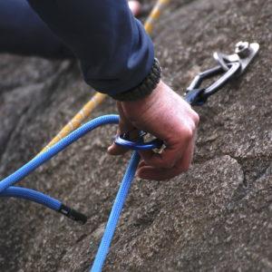 klippning av quickdraw - klättra utomhus