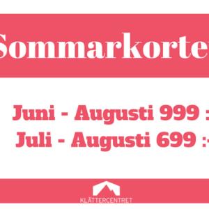 Köp sommarkort hos Klättercentret Skåne